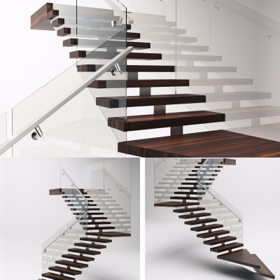 现代拐角楼梯3D模型【ID:828473539】