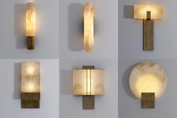 新中式壁燈組合3D模型【ID:528006923】