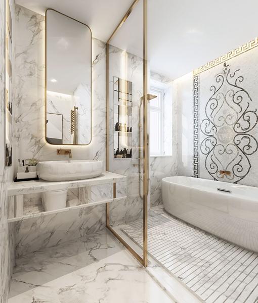 現代衛生間浴室3D模型【ID:545515527】