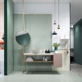 北欧卫浴柜3D模型【ID:134899808】