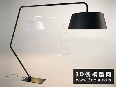 現代落地燈國外3D模型【ID:929475011】