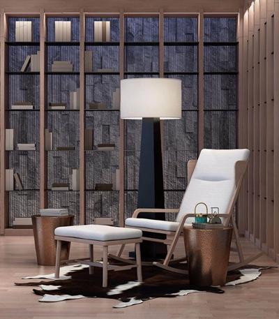 昊泽空间设计君临天下名苑顶复会所新中式休闲椅3D模型【ID:227886652】