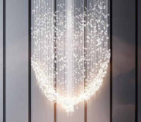 现代吊灯3D模型【ID:226226803】