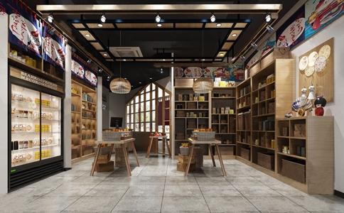 日式零食店3D模型【ID:136236126】