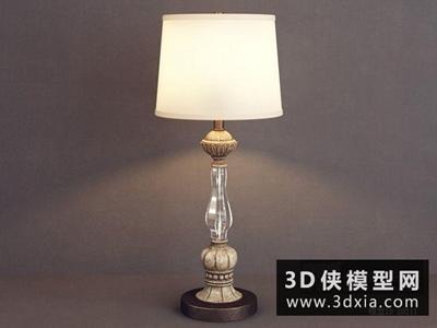 欧式台灯国外3D模型【ID:829515999】