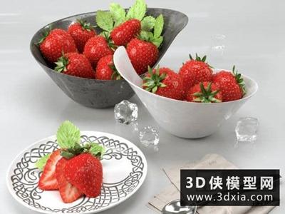 草莓國外3D模型【ID:929359531】