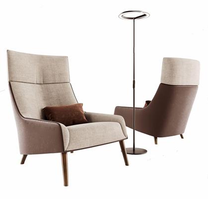 北欧单人休闲沙发3D模型【ID:928341609】