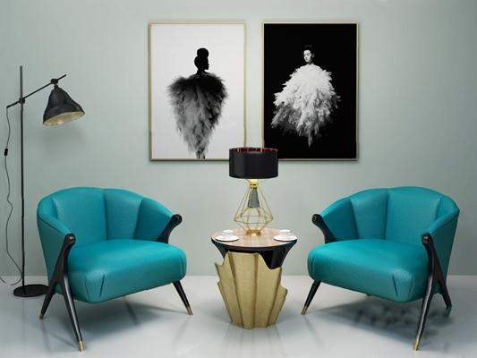 现代休闲沙发组合3D模型【ID:126234234】