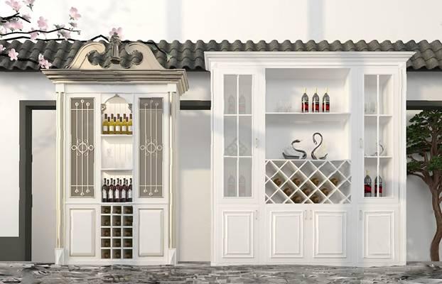 酒柜3D模型【ID:920022037】