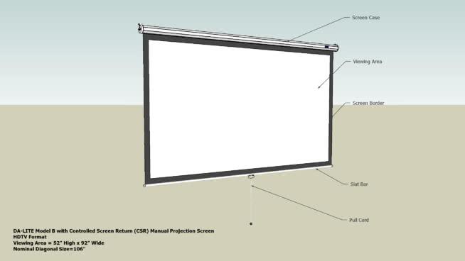 帶控制屏幕返回(CSR)手動投影屏幕的44SU模型【ID:940493625】