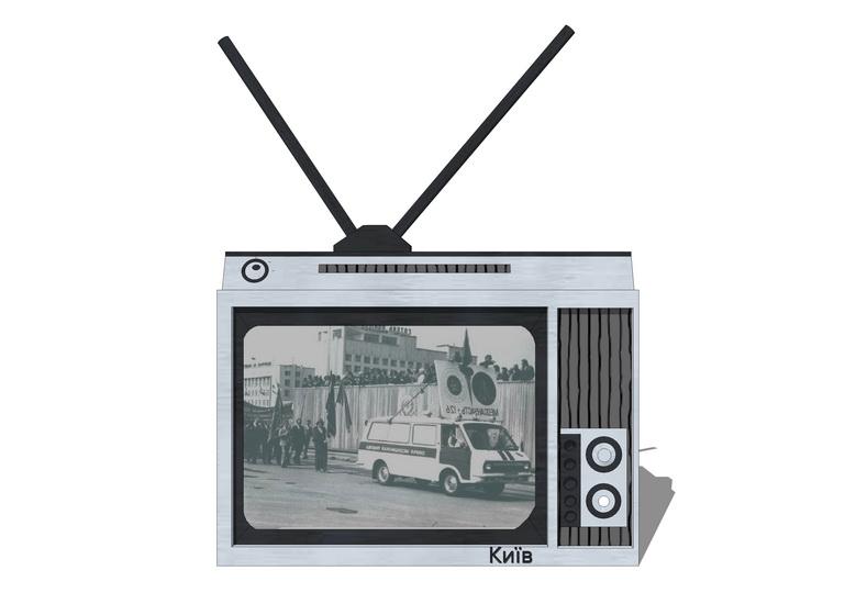 舊電視機SU模型【ID:637112949】