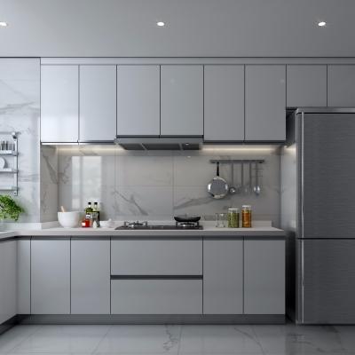 现代厨房橱柜3D模型【ID:127762440】