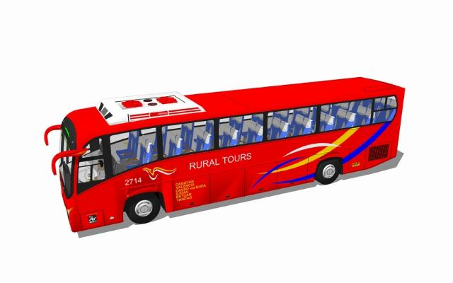 大巴車SU模型【ID:845893186】
