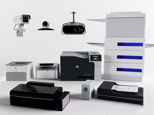 打印機復印機3D模型【ID:427852398】