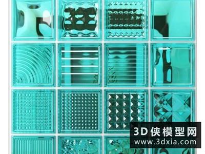 玻璃砖模型国外3D模型【ID:929345686】
