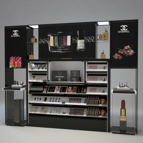 現代化妝品商場展柜3D模型【ID:927817290】