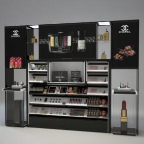 现代化妆品商场展柜3D模型【ID:927817290】
