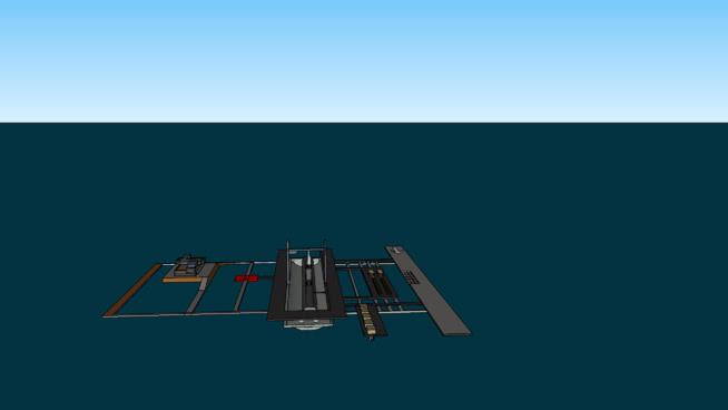 北大西洋干船坞潜艇SU模型【ID:940498815】