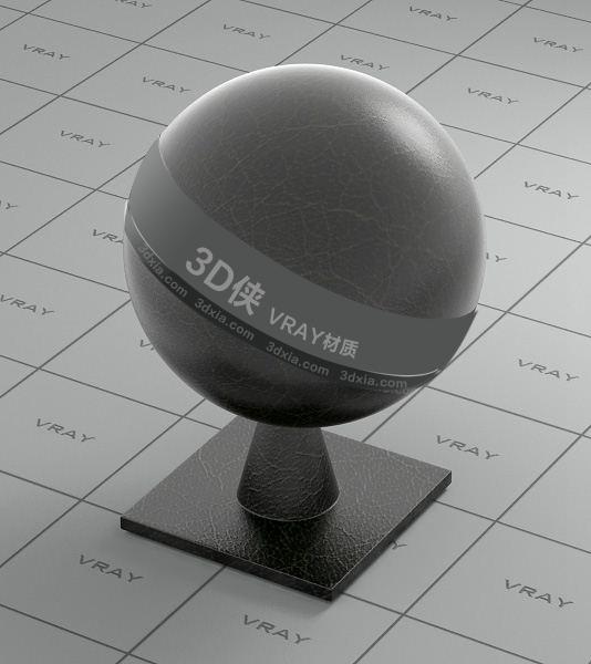 黑色皮革Vray材质【ID:736537920】