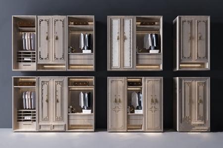 新中式衣柜3D模型【ID:931439984】