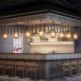 日式餐厅3D模型【ID:528029505】