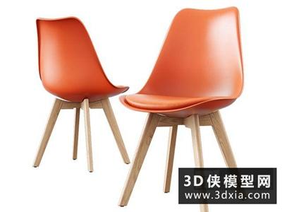 现代椅子国外3D模型【ID:729363830】