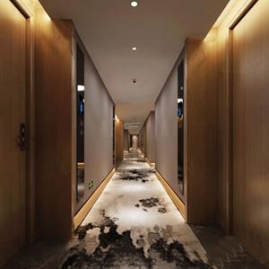 现代酒店走廊过道3D模型【ID:431402809】