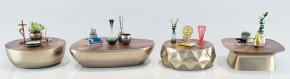 现代金属茶几花瓶摆件组合3D模型【ID:927827676】