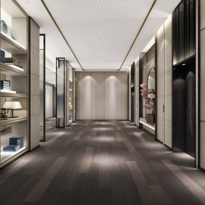 新中式电梯厅3D模型【ID:627805277】