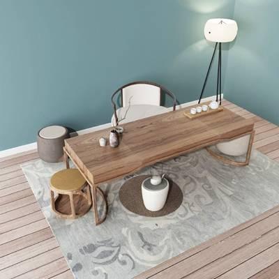 茶桌3D模型【ID:620018083】