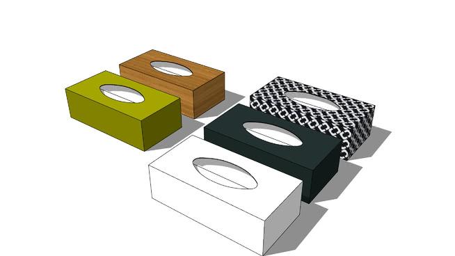 纸巾盒SU模型【ID:539310062】