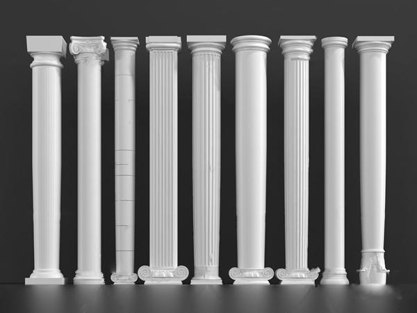 欧式罗马柱3D模型【ID:348245461】