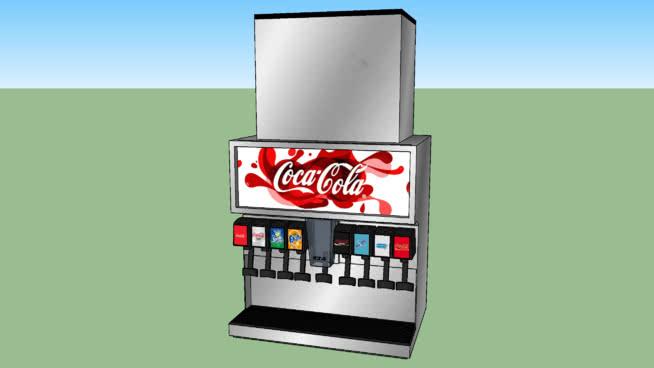 可口可樂飲料分配器SU模型【ID:539312429】