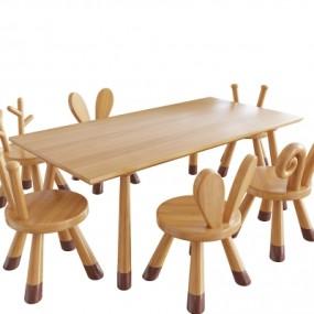 现代实木儿童桌椅365彩票【ID:928557247】