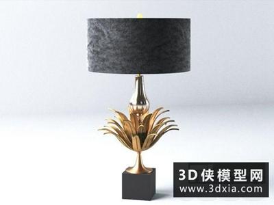 现代金属台灯国外3D模型【ID:829638933】