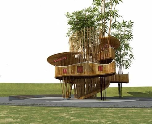 现代建筑3D模型【ID:724889693】