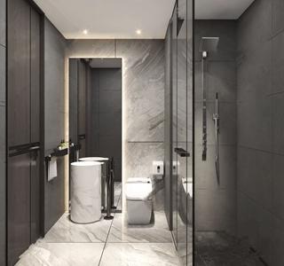 现代卫生间 现代卫浴 马桶 台盆 淋浴间
