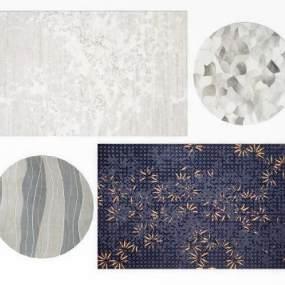 现代地毯组合3D模型【ID:331769260】