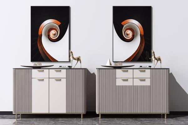现代餐边柜 端景柜 装饰矮柜