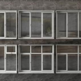 现代窗户平开窗3D模型【ID:335117255】