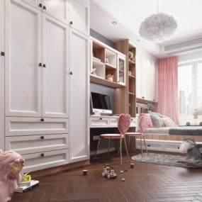 北欧女儿房3D模型【ID:545631724】