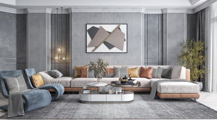 现代轻奢组合沙发