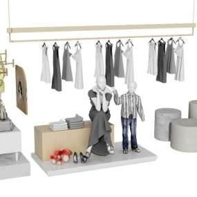 服装模特展示组合3D模型【ID:330425029】