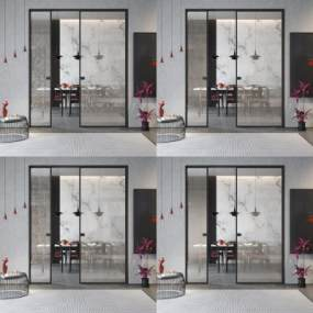 現代夾絹夾絲玻璃3D模型【ID:549161125】