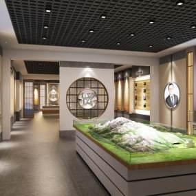 新中式展厅3D模型【ID:946933766】