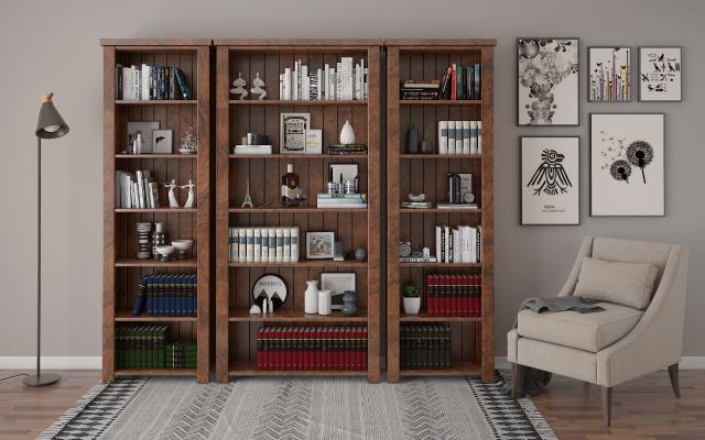 书柜3D模型【ID:136163530】