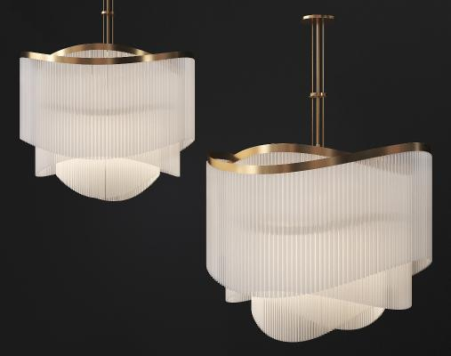 现代金属水晶灯