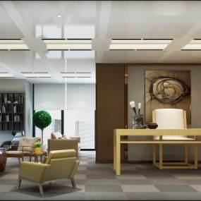 现代办公室3D模型【ID:931640053】