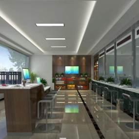 现代银行大厅 3D模型【ID:942308920】