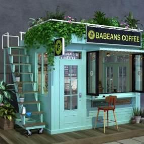 北欧咖啡店3D模型【ID:632837353】